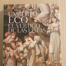 Libros de segunda mano: EL VÉRTIGO DE LAS LISTAS ( UMBERTO ECO ) . Lote 195513286