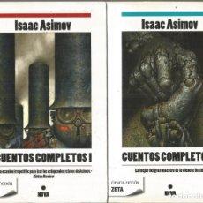 Libri di seconda mano: ISAAC ASIMOV. CUENTOS COMPLETOS I Y II. EDICIONES B. NOVA. 2 TOMOS. Lote 196277446