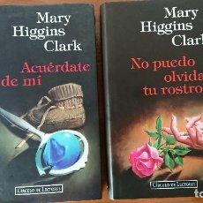 Libros de segunda mano: MARY HIGGINS CLARK – ACUÉRDATE DE MÍ – NO PUEDO OLVIDAR TU ROSTRO – 2 LIBROS - CIRCULO DE LECTORES.. Lote 202806238