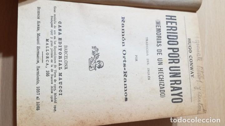 Libros de segunda mano: HERIDO POR UN RAYO - HUGO CONWAY - MAUCCI - MEMORIAS DE UN HECHIZADO / Q404 - Foto 3 - 203290061