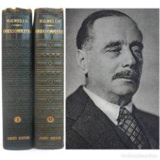 Libros de segunda mano: 1953 - H. G. WELLS: OBRAS COMPLETAS - 2 TOMOS EN PIEL, + 3000 PÁGINAS EN PAPEL BIBLIA - 1ª EDICIÓN. Lote 204993336