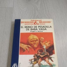 Livres d'occasion: TIMUN MAS - AVENTURA JUEGO - ADVANCED DUNGEONS AND DRAGONS - 12 EL REINO DE PESADILLA DE BABA YAGA. Lote 205564227