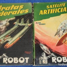 Libros de segunda mano: ROBOT Nº 11 Y 14 - PIRATAS SIDERALES - SETÉLITE ARTIFICIAL - ALAN COMET - EDITORIAL MANDO. Lote 207349726