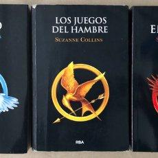Libros de segunda mano: TRILOGÍA LOS JUEGOS DEL HAMBRE. SUZANNE COLLINS. RBA EDITORES 2014. 3 TOMOS.. Lote 207972672