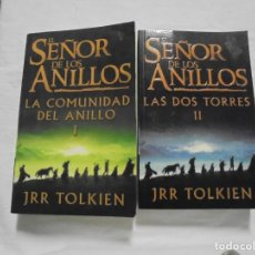 Libros de segunda mano: EL SEÑOR DE LOS ANILLOS TOMOS I Y II.J R R TOLKIEN.LA COMUNIDAD DEL ANILLO Y LAS DOS TORRES.MINOTAU. Lote 210580240