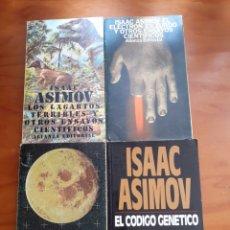 Libros de segunda mano: ISAAC ASIMOV, CÓDIGO GENÉTICO, LUNA, LAGARTOS, ZURDO, LOTE. Lote 210617540