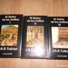 Libros de segunda mano: EL SEÑOR DE LOS ANILLOS I, II, III. - J. R. R. TOLKIEN - TRILOGIA - MINOTAURO. Lote 211775460
