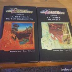 Libros de segunda mano: CRÓNICAS DE LA DRAGÓNLANCE I Y II MARGARET WEIS 1987 POSIBLE RECOGIDA EN MALLORCA. Lote 213981065
