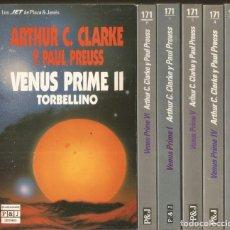 Libros de segunda mano: ARTHUR C. CLARKE Y PAUL PREUSS. VENUS PRIME 6 TOMOS. COMPLETO. PLAZA & JANES. Lote 214458691