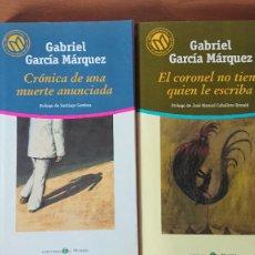 Libros de segunda mano: EL CORONEL NO TIENE QUIEN LE ESCRIBA - CRÓNICA DE UNA MUERTE ANUNCIADA - GABRIEL GARCÍA MARQUEZ – 2. Lote 214848071