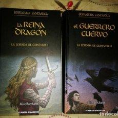 Libros de segunda mano: LA LEYENDA DE GUINEVERE COMPLETA, LA REINA DRAGON, EL GUERRERO CUERVO.. Lote 214961307