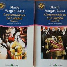 Libros de segunda mano: MARIO VARGAS LLOSA – CONVERSACIONES EN LA CATEDRAL; 2 LIBROS;VOLUMENES I Y II. Lote 215171615