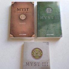 Libros de segunda mano: LOTE DE 3 LIBROS MYST ( BASADOS EN LOS JUEGOS DE ORDENADOR MYST Y RIVEN ). Lote 217527190