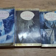 Libros de segunda mano: J.R.R. TOLKIEN: EL SEÑOR DE LOS ANILLOS (3 TOMOS). Lote 218626277