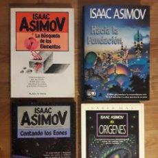 Libros de segunda mano: LOTE 4 TITULOS ASIMOV, PRIMERAS EDICIONES. Lote 220548237