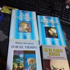 Libros de segunda mano: LOTE 4 LIBROS CIENCIA FICCIÓN KRONO CASA INTELIGENTE POR EL TIEMPO EN UN PLANETA DESIERTO. Lote 220611547