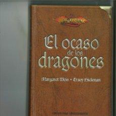 Livros em segunda mão: EL OCASO DE LOS DRAGONES. MARGARITA WEIS Y TRACY HICKMAN. Lote 221129476