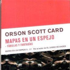 Livres d'occasion: MAPAS EN EL ESPEJO 3 : MAPAS EN UN ESPEJO - ORSON SCOTT CARD. Lote 221832901