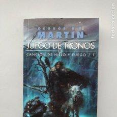 Libros de segunda mano: JUEGO DE TRONOS. CANCION DE HIELO Y FUEGO I. GEORGE R.R. MARTIN. TDK542. Lote 222068140