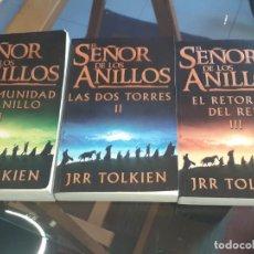 Libros de segunda mano: EL SEÑOR DE LOS ANILLOS TRILOGIA MINOTAURO JRR TOLKIEN. Lote 222626058