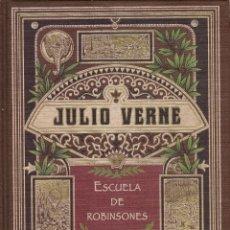 Libros de segunda mano: ESCUELA DE ROBINSONES - JULIO VERNE (COLECCION RBA, AÑO 2007). Lote 222711603