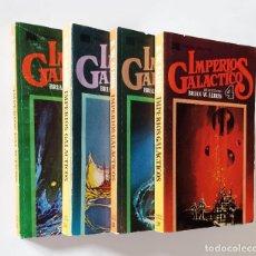 Libros de segunda mano: IMPERIOS GALÁCTICOS (4 TOMOS) | SELEC. BRIAN W. ALDISS | EDITORIAL BRUGUERA, 1977/8 (1ª ED.). Lote 222721995