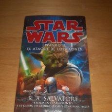Libri di seconda mano: STAR WARS. EPISODIO II. EL ATAQUE DE LOS CLONES. PRIMERA EDICIÓN. TIMUN MAS. Lote 223663360
