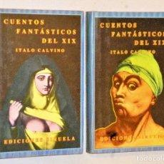 Libros de segunda mano: CUENTOS FANTÁSTICOS DEL XIX. 2 VOLÚMENES. Lote 224587872