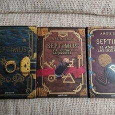 Libros de segunda mano: SEPTIMUS , SAGA DE 3 TOMOS /POR: ANGIE SAGE ( FANTASIA ) , EDITA : MONTENA. Lote 30327385