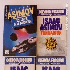 Libros de segunda mano: ISAAC ASIMOV - FUNDACIÓN - FUNDACIÓN E IMPERIO - SEGUNDA FUNDACIÓN - LOS LÍMITES DE LA FUNDACIÓN. Lote 227920655
