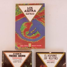 Libros de segunda mano: JACK VANCE - FREDERIC BROWN - ANTOLOGÍA RECOPILADA ROBERT BLOCH - LOS ASUTRA - EL HOMBRE SIN ROSTRO. Lote 227923870