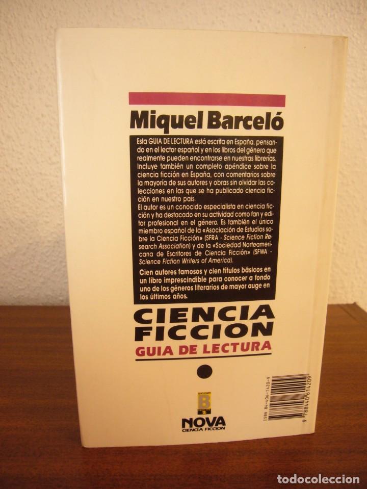 Libros de segunda mano: MIQUEL BARCELÓ: CIENCIA FICCIÓN. GUÍA DE LECTURA (EDICIONES B, NOVA, 1990) - Foto 3 - 228788375