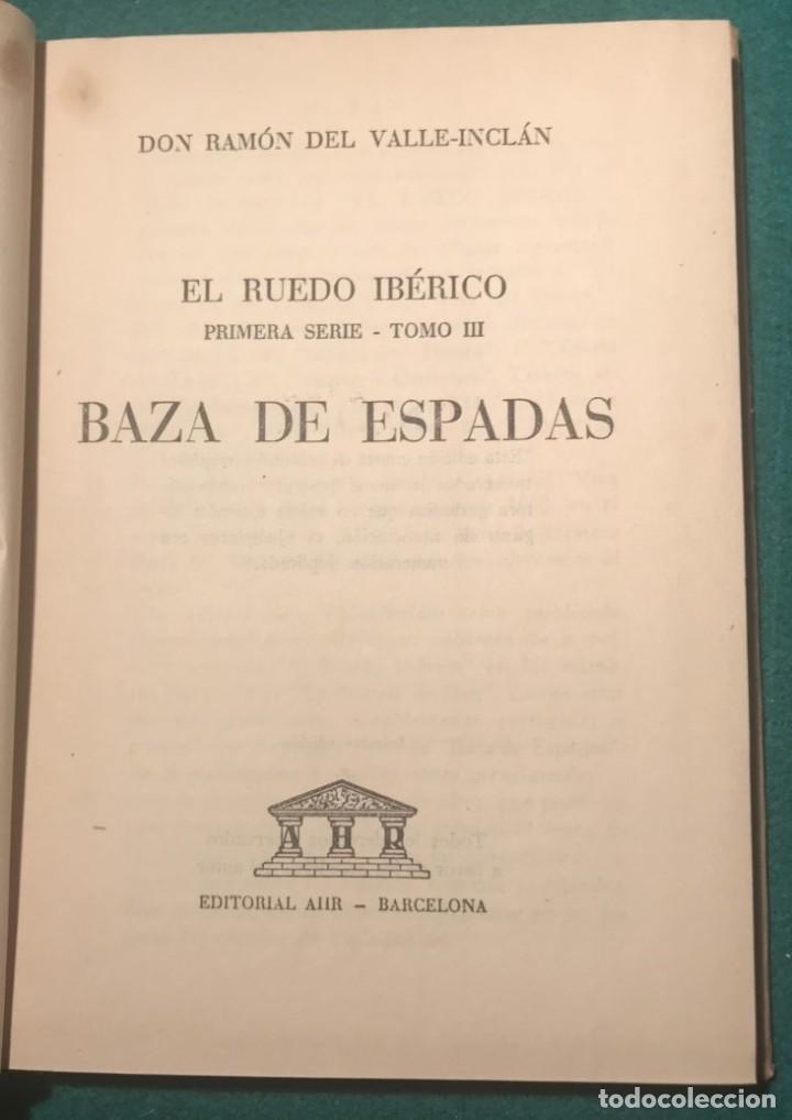 Libros de segunda mano: BAZA DE ESPADAS. R. VALLE-INCLÁN. - Foto 2 - 229868450