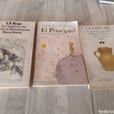 """Libros de segunda mano: LOTE DE 3 LIBROS. """" EL BARÓN DE MUNCHHAUSEN , EL PRINCIPITO Y LA VIDA DE LAZARILLO DE TORMES"""".. Lote 233369295"""