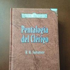Libri di seconda mano: PENTALOGIA DEL CLERIGO (ED. COLECCIONISTA) - R. A. SALVATORE (TIMUN MAS) - TAPA DURA. Lote 235384655