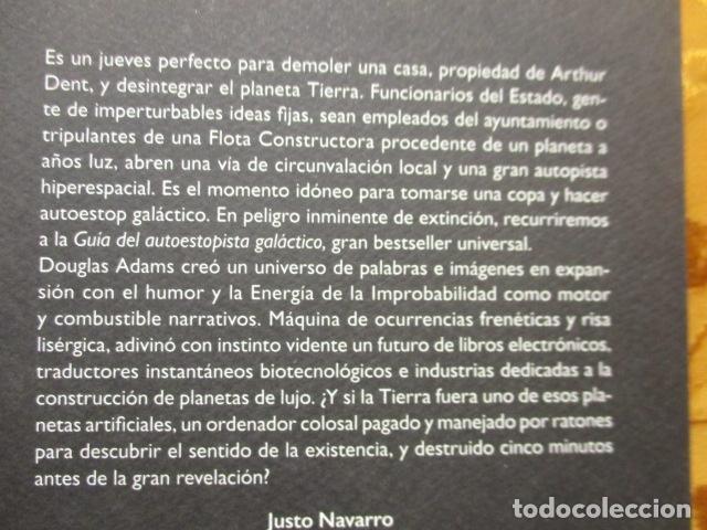 Libros de segunda mano: Guía del autoestopista galáctico. - Adams, Douglas. COMO NUEVO. - Foto 8 - 236807290