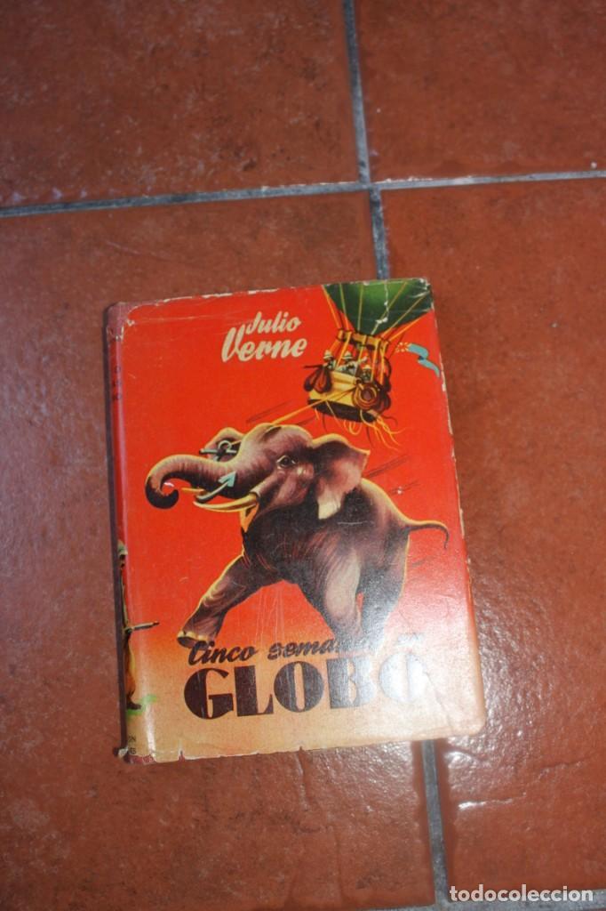 COLECCION ROBINSONES Nº 37: CINCO SEMANAS EN GLOBO JULIO VERNE - EDIT. MIGUEL ARIMANY 1958 (Libros de Segunda Mano (posteriores a 1936) - Literatura - Narrativa - Ciencia Ficción y Fantasía)