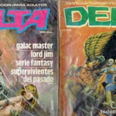Libros de segunda mano: LOTE DE 11 TOMOS GENERO FICCION Y FANTASIA PARA ADULTOS PRODUCCIONES EDITORIALES 1980. Lote 237222165