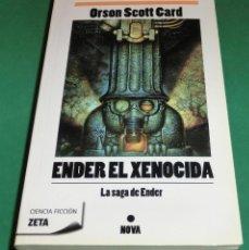 Libros de segunda mano: ENDER EL XENOCIDA - ORSON SCOTT CARD EDIT. NOVA (LIBRO COMO NUEVO) [EDCIÓN DESCATALOGADA]. Lote 237422075