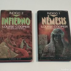 Libros de segunda mano: SAGA INDIGO Nº 1 NÉMESIS Y Nº 2 INFIERNO - LOUISE COOPER - TIMUN MAS. Lote 238108805