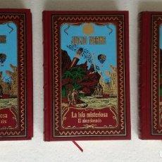 Libros de segunda mano: LA ISLA MISTERIOSA I, II Y III (NAUFRAGOS AITE, ABANDONADO, SECRETO) - JULIO VERNE; RBA, 2002. Lote 240095790