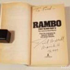 Libros de segunda mano: RAMBO FIRST BLOOD PART II FIRMADO (ÚNICO EN TC). Lote 240369690