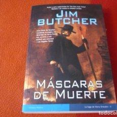 Libros de segunda mano: MASCARAS DE MUERTE HARRY DRESDEN 5 (JIM BUTCHER ) 1ª EDICION ¡BUEN ESTADO! LA FACTORIA DE IDEAS 2009. Lote 241162725
