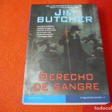 Libros de segunda mano: DERECHO DE SANGRE HARRY DRESDEN 6 (JIM BUTCHER ) 1ª EDICION ¡BUEN ESTADO! LA FACTORIA DE IDEAS 2010. Lote 241361620
