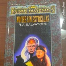 Libros de segunda mano: NOCHE SIN ESTRELLAS R.A SALVATORE TIMUN MAS. Lote 243774250