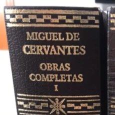 Libros de segunda mano: MIGUEL DE CERVANTES. OBRAS COMPLETAS EDICIONES AGUILAR. SÓLO TOMO 1. Lote 244979055