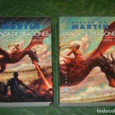 Libros de segunda mano: CANCION DE HIELO Y FUEGO V. DANZA DE DRAGONES. 2 VOLS - GEORGE R.R.MARTIN - GIGAMESH 2012. Lote 245558175