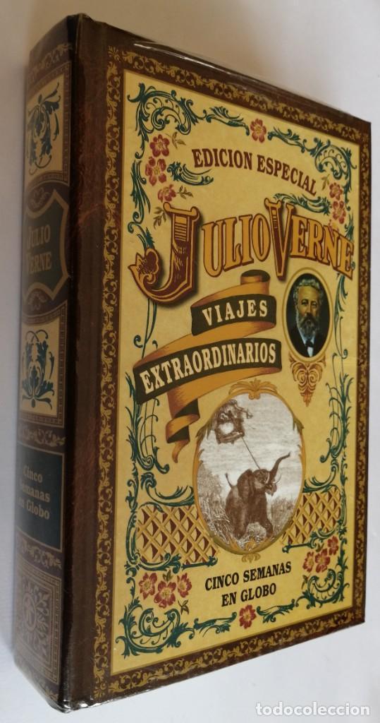 (PLASTIFICADO, SIN ABRIR) CINCO SEMANAS ENGLOBO, JULIO VERNE, CLUB INTERNACIONAL DE LIBRO (Libros de Segunda Mano (posteriores a 1936) - Literatura - Narrativa - Ciencia Ficción y Fantasía)
