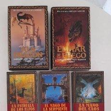 Libros de segunda mano: EL CICLO DE LA PUERTA DE LA MUERTE COMPLETA 7 VOL. TIMUN MAS MARGARET WEIS TRACY HICKMAN 2 TAPA DURA. Lote 247282855