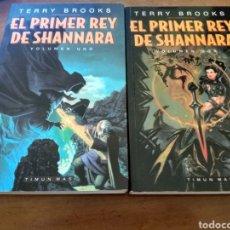Libros de segunda mano: EL PRIMER REY DE SHANNARA 2 TOMOS ( TERRY BROOKS ) TIMUN MAS. Lote 247323365